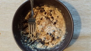 It fits your macros -- protein cookie dough.