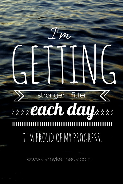 getting stronger and fitter each day