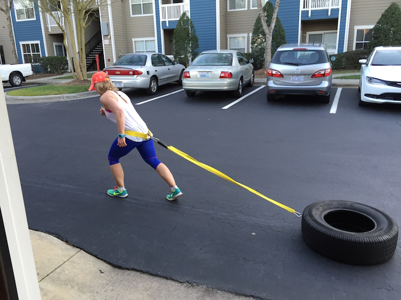 tire sled forward pull